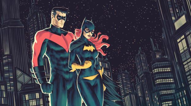 Batgirl and Nightwing DC Comic Wallpaper