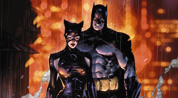 HD Wallpaper | Background Image Batman & Catwoman DC 4K