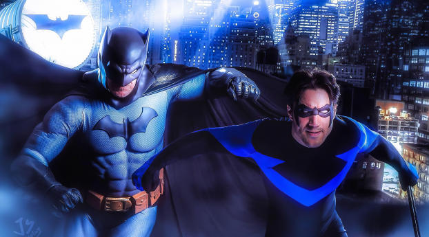 HD Wallpaper | Background Image Batman And Nightwing Cosplay 2019