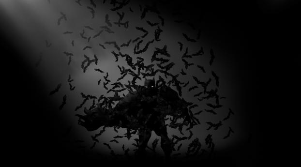 Batman bats monochrome dc comics full hd wallpaper batman bats monochrome dc comics wallpaper voltagebd Images