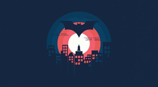 Batman DC 2021 Minimal Wallpaper