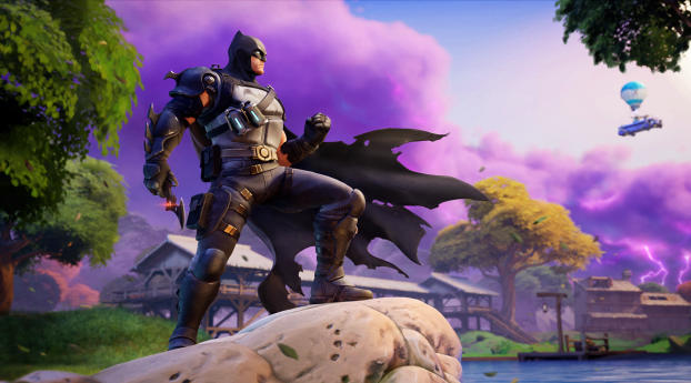 Batman Zero Fortnite Wallpaper 2880x1800 Resolution