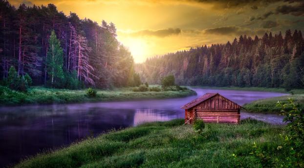 Beautiful Cabin Wallpaper