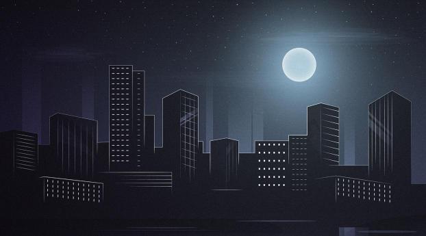 Beautiful City Nightscape Wallpaper 3840x2400 Resolution