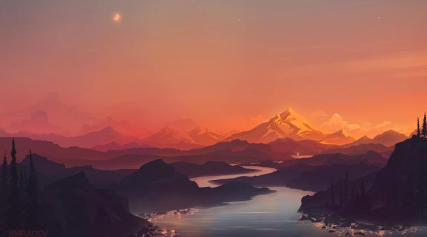 Beautiful Cool Mountains HD Wallpaper