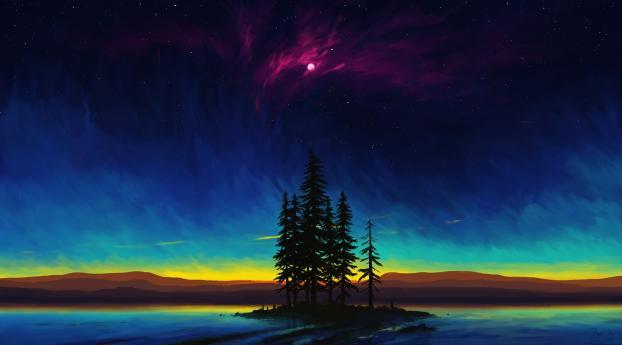 Beautiful Landscape Digital Art Wallpaper 2160x3840 Resolution