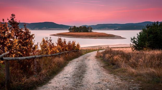 HD Wallpaper | Background Image Beautiful Pink Sunset Evening