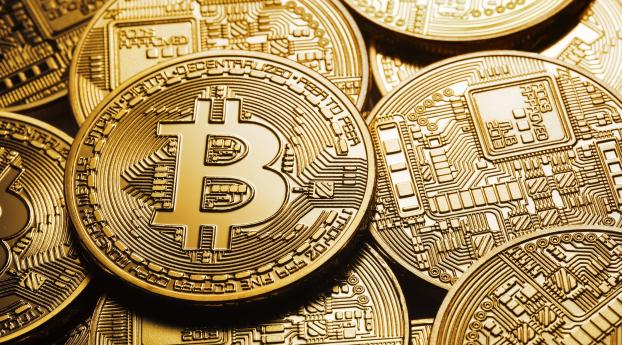 Bitcoin Cryptocurrency Coin Wallpaper 2560x1024 Resolution