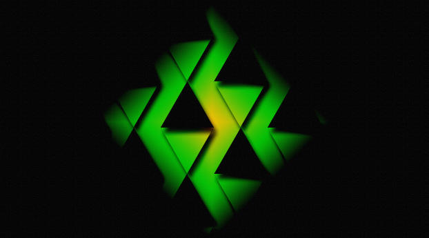 HD Wallpaper   Background Image Black & Green Triangle