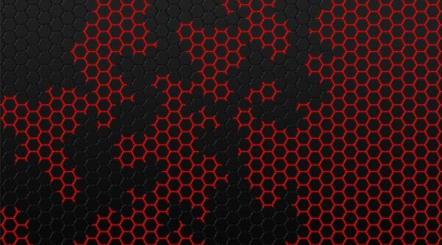 HD Wallpaper | Background Image Black and Red Hexagon