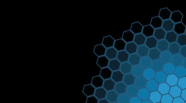 Black Blue Hexagon Pattern Wallpaper Hd Abstract 4k Wallpapers Images Photos And Background
