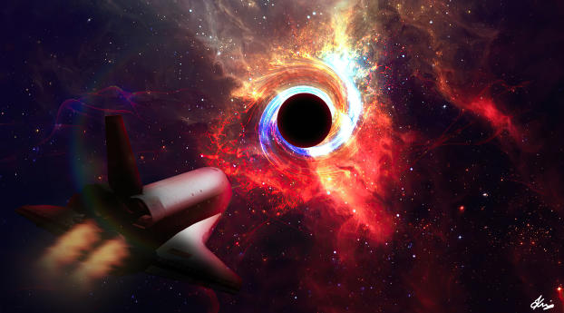 HD Wallpaper | Background Image Black Hole Gravity 4K