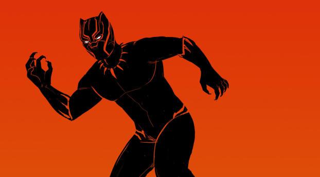 1125x2436 black panther comic artwork