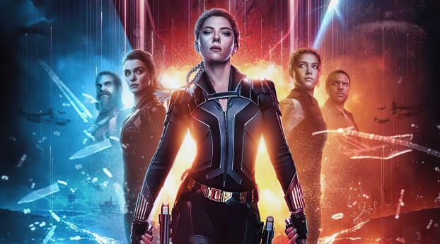 Black Widow Fan Poster Wallpaper