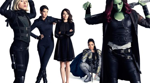 HD Wallpaper   Background Image Black Widow, Valkyrie, Gamora And Wasp In Avengers Infinity War