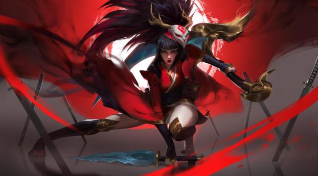 Blood Moon Akali League Of Legends Wallpaper 320x240 Resolution
