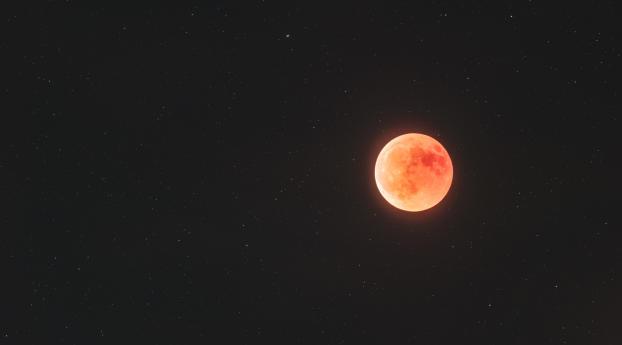 Blood Moon Night Photography Wallpaper