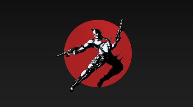 HD Wallpaper | Background Image Bloodshot Art 5K