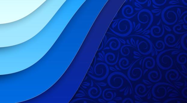 Blue Flower Texture 4K Wallpaper