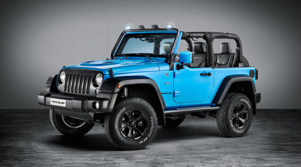 1125x2436 Blue Jeep Wrangler Rubicon Iphone Xs Iphone 10