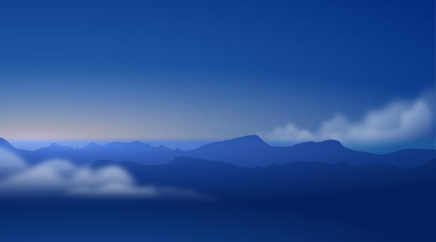 HD Wallpaper | Background Image Blue Mountains and Clouds