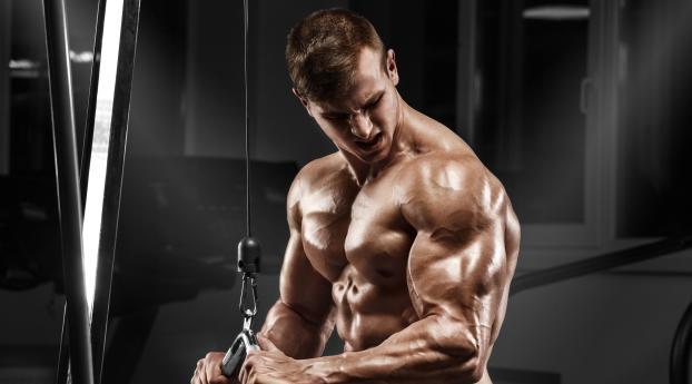 Bodybuilder Muscles Wallpaper 1080x2160 Resolution