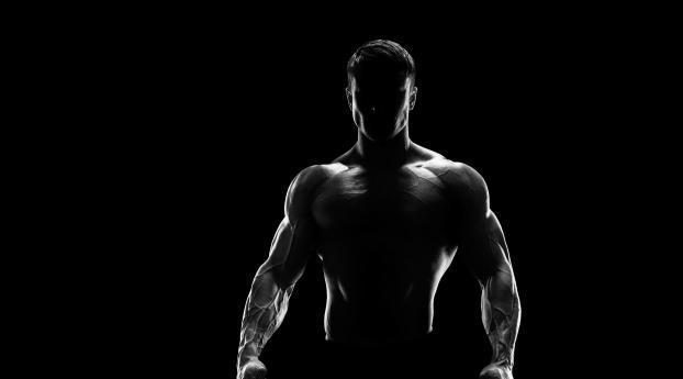 Bodybuilder Silhouette Wallpaper