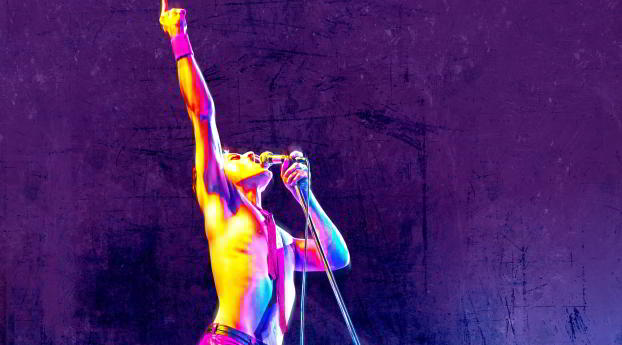HD Wallpaper | Background Image Bohemian Rhapsody Rami Malek as Freddie Mercury