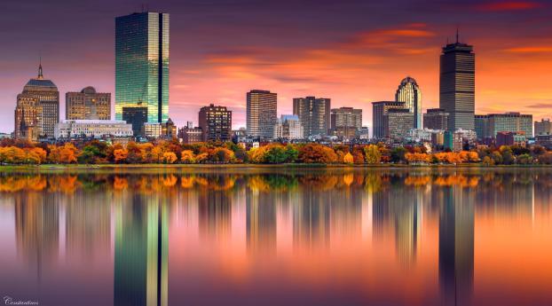 Boston City Buildings Wallpaper
