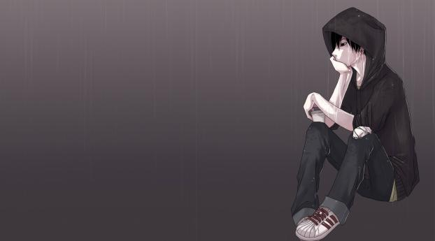 boy, anime, lonely Wallpaper, HD Anime 4K Wallpapers ...