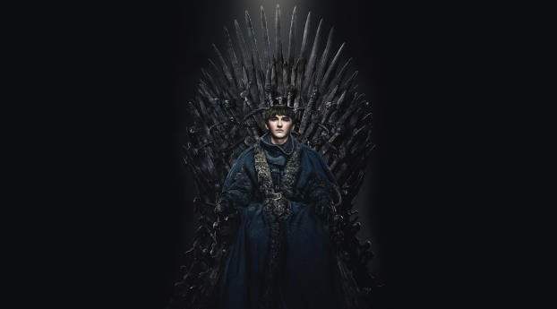 Bran Stark in The Iron Throne Wallpaper in 2560x1024 Resolution