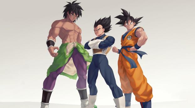 Broly Goku and Vegeta Wallpaper