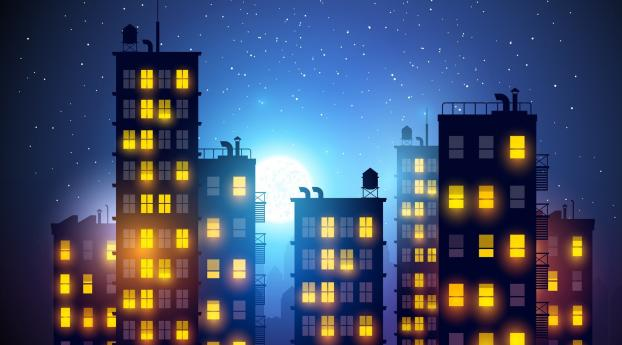 HD Wallpaper | Background Image Building Illustration