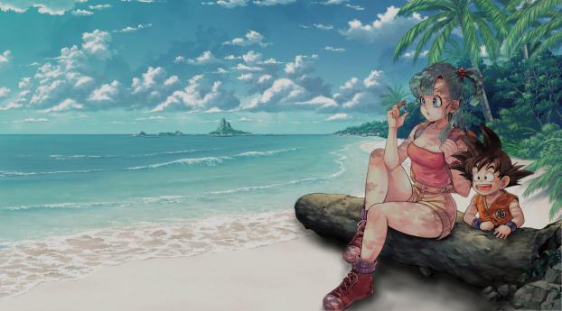Bulma and Goku Dragon Ball Wallpaper