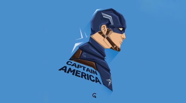 Captain America 5K Minimalist Wallpaper