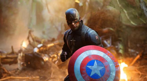 Captain America Assemble Avengers Endgame Wallpaper