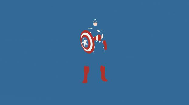 Captain America Marvel Comics Minimalism Wallpaper 1280x2120 Resolution