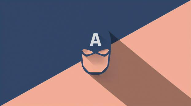 HD Wallpaper | Background Image Captain America Mask Minimal