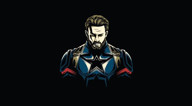 HD Wallpaper | Background Image Captain America Minimalist Design