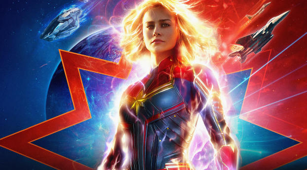 HD Wallpaper | Background Image Captain Marvel 2019 Official Poster