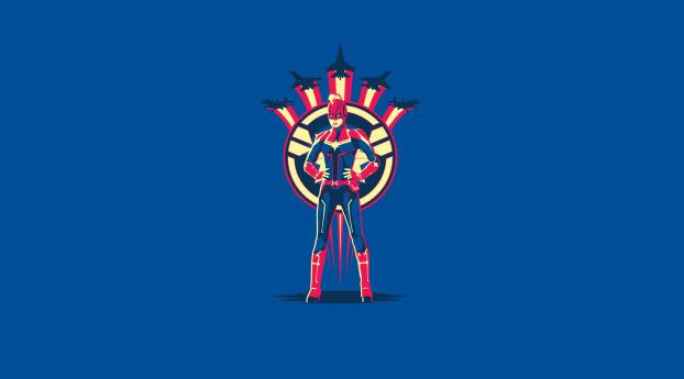 Captain Marvel 4K Art Wallpaper