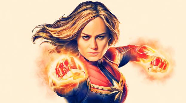 Captain Marvel Deviantart Wallpaper
