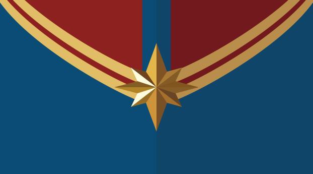 HD Wallpaper | Background Image Captain Marvel Logo 4K