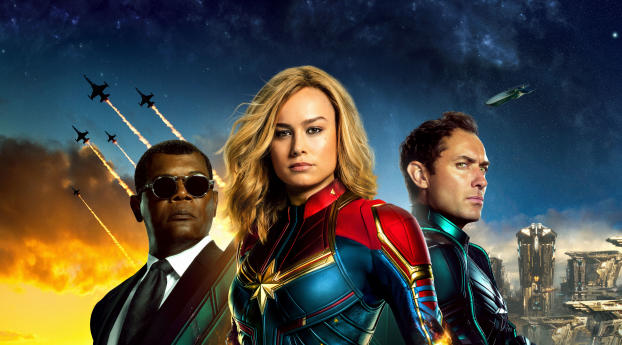 Captain Marvel Movie All Superheroes Wallpaper