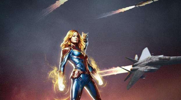 Captain Marvel Movie Poster Art Wallpaper 480x484 Resolution