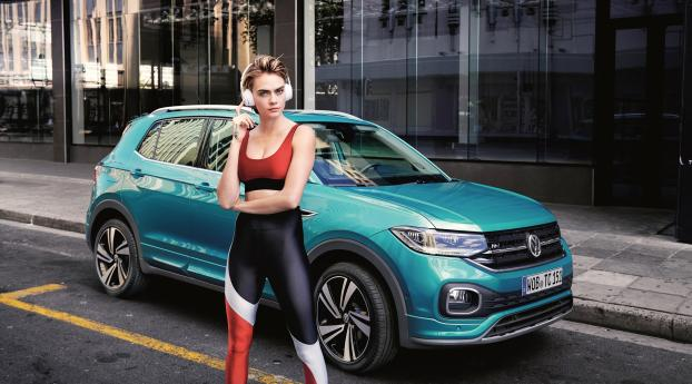 Cara Delevingne Volkswagen Photoshoot Wallpaper 1280x2120 Resolution
