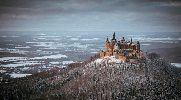 Castle Hohenzollern View Wallpaper 540x960 Resolution