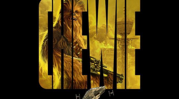 1242x2688 Chewbacca Star Wars Art Iphone Xs Max Wallpaper