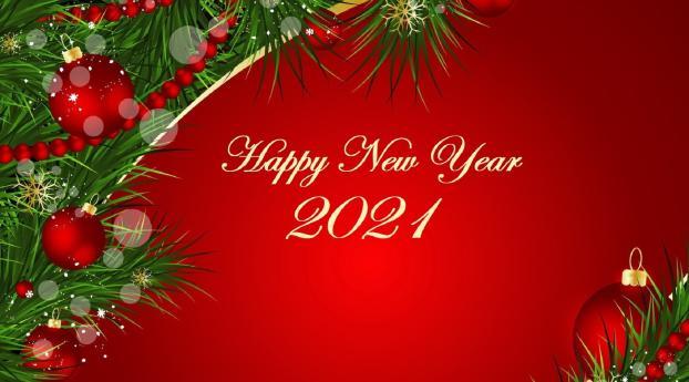 Christmas & New Year 2021 Wallpaper 1024x768 Resolution