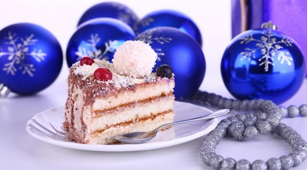HD Wallpaper | Background Image christmas decorations, cake, treat